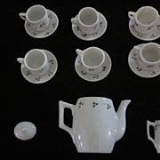 Vintage Child's/Doll Hand Decorated 15 Piece China Tea Set