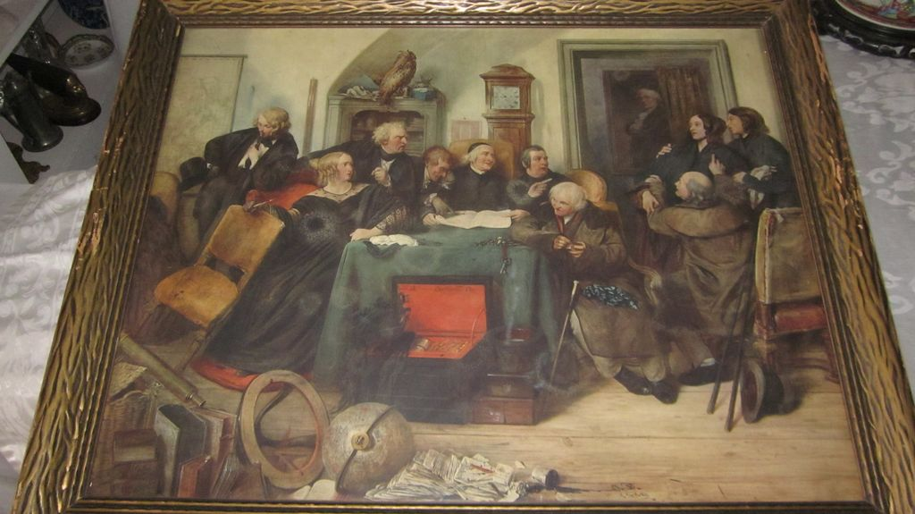 Opening Of The Will, Josef Danhauser, Signed Stone Lithograph