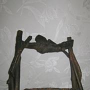 Twig Handle Rustic Basket