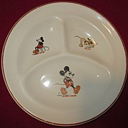Walt Disney Mickey Mouse Divided Child's Plate