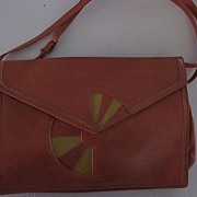 Barbara Bolan Deco Leather Purse