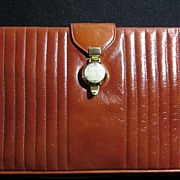 Bienen-Davis 1960-70s Rust Colored Leather Purse