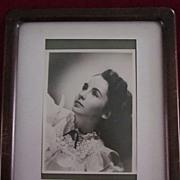Young Elizabeth Taylor Autographed Photo
