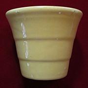 """Bauer 3 1/2"""" Yellow Stepped Flower Pot"""