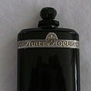 La Nuit De Noel, by Caron, Black Glass Perfume Bottle