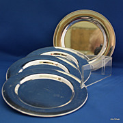 Bread & Butter plates in several designs in silverplate