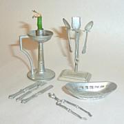 10 pcs Soft Metal 1910 Germany Dollhouse Miniatures / Accessories