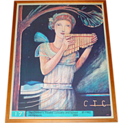 """Vintage Mpls. Childrens Theater Company 1981-82 Framed 30"""" Poster ~ Pan Pipes"""