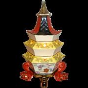 "1960 Vintage 9 1/2"" Goebel Porcelain Pagoda Perfume Lamp / Night Light"