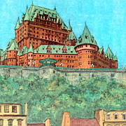 Vintage Framed Print Chateau Frontenac QUEBEC - Henenfeld