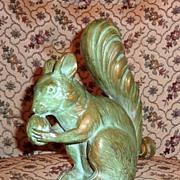 Rare Antique Metal Figural Squirrel Lawn Sprinkler