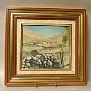 Original 1950's Artwork San Rafael de Mucuchies Venezuela