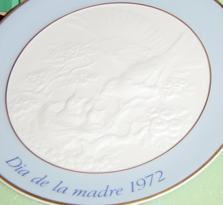 Lladro Dia De La Madre 1972 Mother's Day Plate