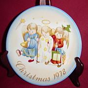 Schmid Sister Berta Hummel Heavenly Trio Christmas 1978 Plate