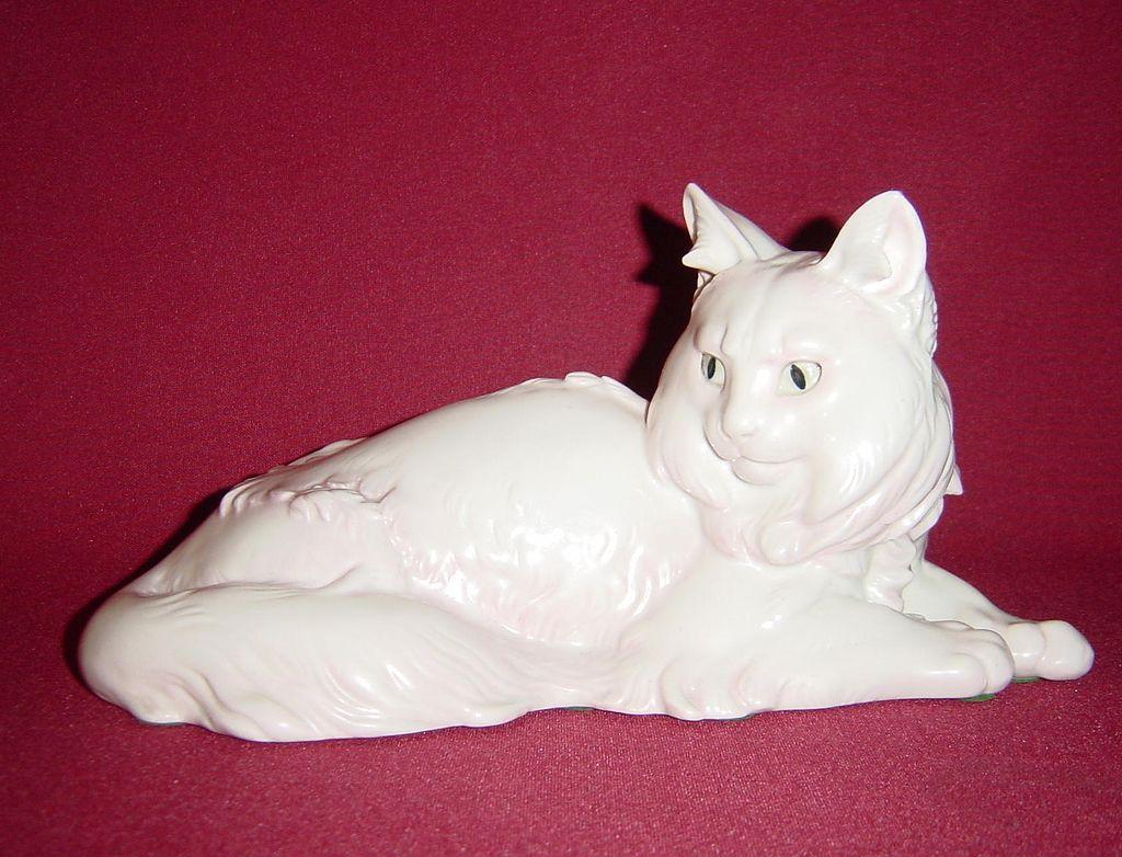 Rosenthal Angora Cat Lying by Theodor Karner