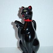Japan Red Ware Shafford Black Cat Cruet