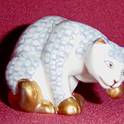 Franklin Mint Herend Curio Cabinet Cat