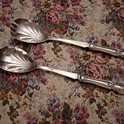 Sheffield England EPNS and Sterling Silver Salad Serving Set