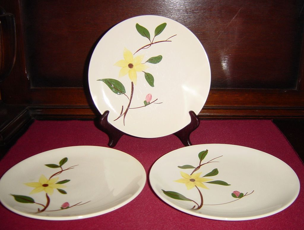 Southern Potteries Blue Ridge Gilleyflower Salad Plates