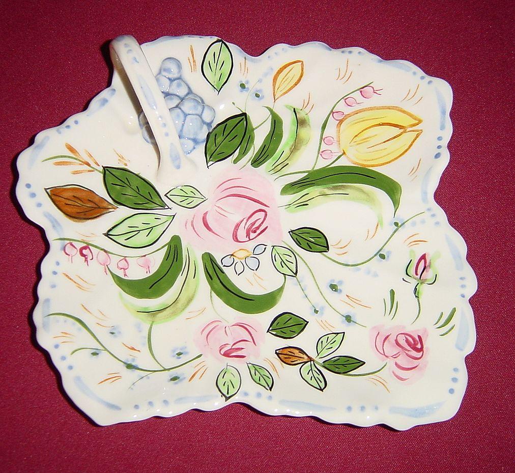 Blue Ridge Southern Potteries Verna Maple Leaf Cake Plate