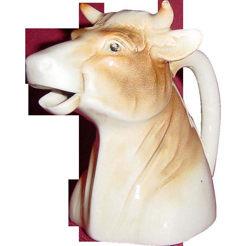 Occupied Japan Porcelain Brown Cow Creamer