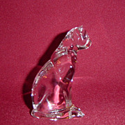 Franklin Mint Crystal Clear Curio Cat Cat