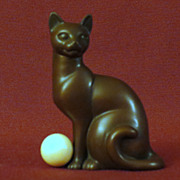 Franklin Mint Art Deco Curio Cabinet Cat