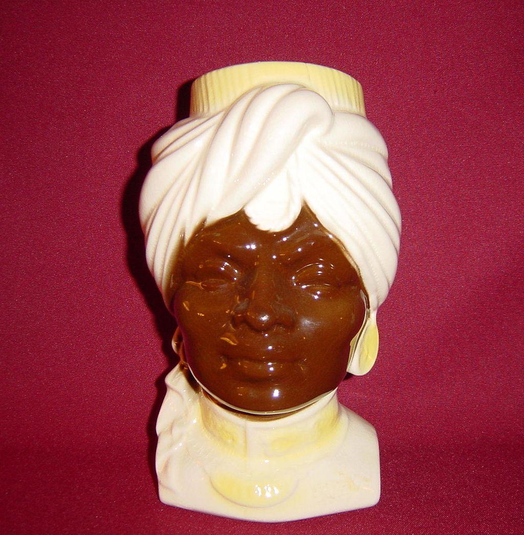 Royal Copley Blackamoor Head Vase