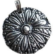 Fine Silver Medallion Pendant - Handcrafted PMC .999