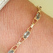Fantastic 9K Gold 3.00 Carat Alexandrite Bracelet~Beautiful Colour Changing Stones!
