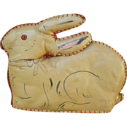 Precious Stuffed Oilcloth Rabbit Made In Germany