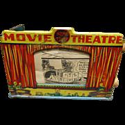 Louis Marx Home Town Tin Litho Movie Theater