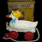 Hubley Ducky Wucky Duck Pull Toy