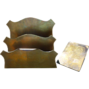 Bradley & Hubbard Brass Desk Set