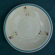 Roseville Juvenile Child's Duck In Galoshes Plate