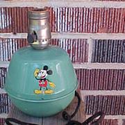 30's Soreng Manegold Mickey Mouse Tin Lamp