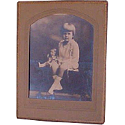 Adorable Large Original 20's Photograph Young Girl And Her Doll