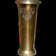 Smith Metal Arts Silver Crest Decorated Bronze Vase