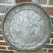 Tin ABC Nursery Rhyme Child's Plate