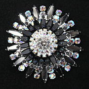 Juliana DeLizza & Elster Star/Sun Burst Jet Brooch