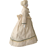 "14"" Kling 1860's Parian Fancy Grecian Hairdo Green Boots Earring"