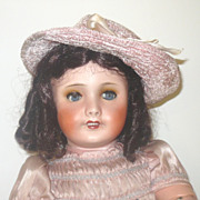 """23"""" All Original  Bisque Head Unis France Jumeau Poupee with Tag"""