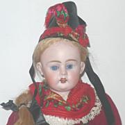 """REDUCED Lovely 13"""" All Original Bahr & Proschild Girl Regional Costume"""