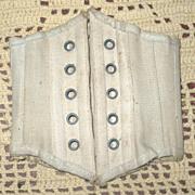"8.5"" Boned Ivory Doll Corset 5 Sets Grommets"
