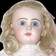 "19"" Tete Jumeau 8 Blue Paper Weight Eyes  Mama/Papa Strings"
