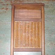 REDUCED 19th Century Child Size Scrub Board Rockingham Insert