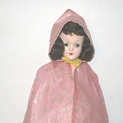 Tagged Mary Hoyer Pink Plastic Raincoat w Hood Horse Head Print Liner