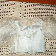 19th Century Pale Aqua Lined Silk & Net Fashion  Blouse