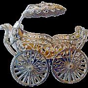1898 Pierced Soft Metal Carriage Parasol & Liner