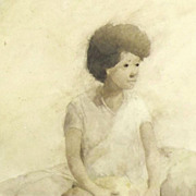 American Art - A Little Prince: Vintage Watercolor Painting